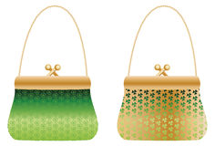 Purses with clover royalty free illustration