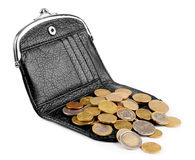 Purses and coins. Stock Photos