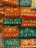 Purses. Handmade Purses on display Stand, Pune, Maharashtra, India Stock Photos