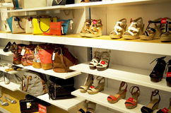 Purses and shoes Stock Photos