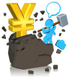 Pursuing Money. Three dimension style and High Quality Image Royalty Free Stock Photography