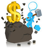 Pursuing Money. Three dimension style and High Quality Image Stock Images