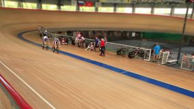 Pursuit cycle race stock video footage