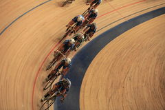 Pursuit Cycling top view Stock Image