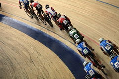 Pursuit Cycling top view Royalty Free Stock Photo