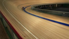 Pursuit cycling track stock video footage
