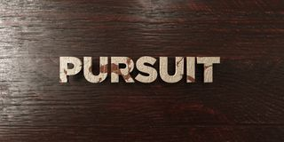 Pursuit - grungy wooden headline on Maple  - 3D rendered royalty free stock image. This image can be used for an online website banner ad or a print postcard Stock Photos