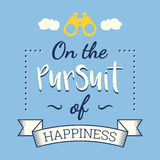 The pursuit of happiness. Retro poster Stock Photo