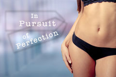 In pursuit of perfection Stock Photo