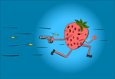 Pursuit of strawberries Royalty Free Stock Photo