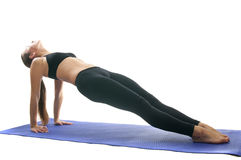 Purvottanasana pose. Yoga seria: Purvottanasana is also called   Omgekeerde Plank  is an asana Royalty Free Stock Images