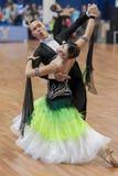 Puschin Aleksey and Makovskaya Valeriya Perform Youth-2 Standard Program Royalty Free Stock Photos