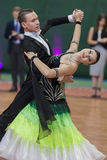 Puschin Aleksey and Makovskaya Valeriya Perform Youth-2 Standard Program on National Championship Royalty Free Stock Photo