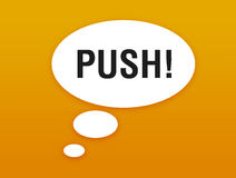 Push Stock Photo