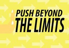 Push Beyond The Limits Stock Photos