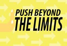 Push Beyond The Limits Stock Photos