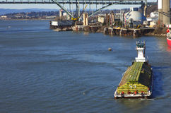 Push boat & barge. Royalty Free Stock Photos