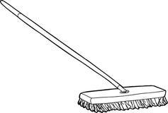 Push Broom Illustration Royalty Free Stock Photo