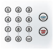 Push button. Set of realistic  buttons Stock Photos