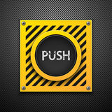 Push button. Royalty Free Stock Images