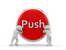 Push button Stock Image