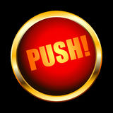 Push button. This illustration can be used for your design Royalty Free Stock Photography