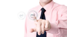 Push the button Royalty Free Stock Photos