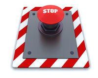 Push button. 3d render of push button with symbol Royalty Free Stock Photo