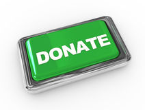 Push button donate Royalty Free Stock Photography