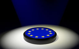 The push button with EU flag Stock Image