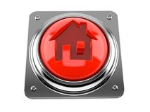 Push button with house icon concept Royalty Free Stock Photo