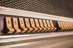 Push button juke box Stock Image