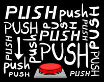 Push button message Stock Images