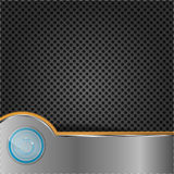 Push button on metal surface Stock Images