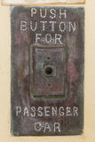 Push button for passenger car Stock Images