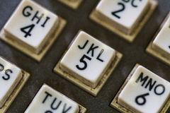 Push button phone on Battleship Wisconsin Stock Photos