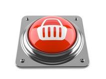 Push button with shopping basket Stock Photos
