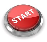 Push Button - Start. 3d rendered image Royalty Free Stock Image
