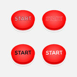Push button start red Royalty Free Stock Photography