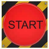 Push button start Stock Photo