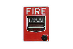 Push button switch fire Royalty Free Stock Photos