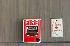 Push button switch fire Royalty Free Stock Photography