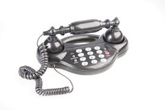 Push-button telephone in retrostyle. Royalty Free Stock Images