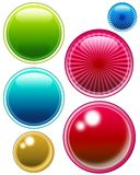 Push buttons 01. Empty web circles, icons, spheres stock illustration