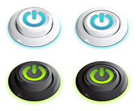 Push buttons. Isolated on white vector illustration