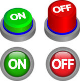 Push buttons ON OFF Royalty Free Stock Photos