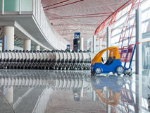 Push cart at the airport Stock Image