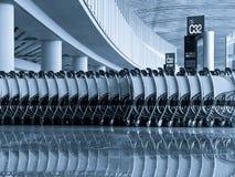 Push cart at the airport Stock Photo