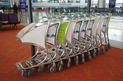 Push cart at the airport Royalty Free Stock Photos