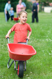 Push cart running Stock Images